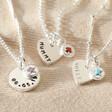 Lisa Angel Ladies' Personalised Sterling Silver Birthstone Charm Necklace