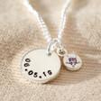 Lisa Angel Luxury Personalised Sterling Silver Birthstone Charm Necklace