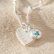 Lisa Angel Special Personalised Sterling Silver Birthstone Charm Necklace