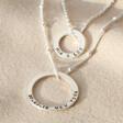 Lisa Angel Ladies' Personalised Sterling Silver Layered Hoop Necklace