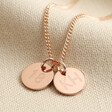 Lisa Angel Rose Gold Personalised 18th Birthday Charm Necklace