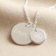 Lisa Angel Ladies' Personalised 40th Birthday Double Charm Necklace