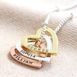 Lisa Angel Mixed Metal Personalised Family Names Heart Necklace