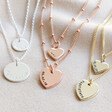 Lisa Angel Ladies' Personalised Layered Chain and Charm Necklace