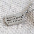 Lisa Angel Engraved Personalised Stainless Steel Dog Tag Charm Necklace