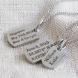 Lisa Angel Men's Personalised Stainless Steel Dog Tag Charm Necklace
