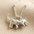 Lisa Angel Cute Sterling Silver Elephant Charm Necklace