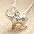 Lisa Angel Handmade Sterling Silver Elephant Charm Necklace