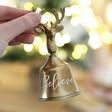 Lisa Angel Festive Gold Personalised Christmas Bell