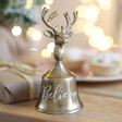 Lisa Angel Gold Personalised Christmas Bell