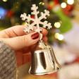 Lisa Angel Metal Snowflake Christmas Bell in Silver