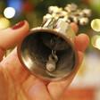 Lisa Angel Festive Snowflake Christmas Bell in Silver
