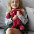 Jellycat Bashful Cassis Bunny Soft Toy with Model