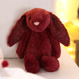 Lisa Angel with Jellycat Bashful Cassis Bunny Soft Toy