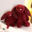 Lisa Angel with Jellycat Bashful Cassis Bunny Soft Toys