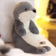 Lisa Angel with Jellycat Bashful Seal Soft Toy