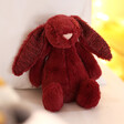Lisa Angel with Jellycat Small Bashful Cassis Bunny Soft Toy