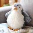 Lisa Angel with Jellycat Small Rolbie Penguin Soft Toy