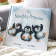 Lisa Angel with Jellycat 'The Naughty Penguins' Book