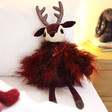 Lisa Angel with Jellycat Viola Reindeer Soft Toy