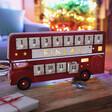 Lisa Angel Special Engraved Personalised Vintage Style LED Bus Advent Calendar
