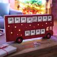 Lisa Angel Alternative Personalised Vintage Style LED Bus Advent Calendar for Children