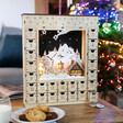 Lisa Angel Special Alternative Personalised Wooden Winter Scene Advent Calendar