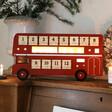 Lisa Angel Large Vintage Style LED Bus Advent Calendar