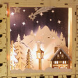 Wooden Winter Scene Advent Calendar