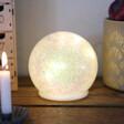Medium LED Iridescent Sparkle Light Globe