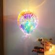 Personalised Iridescent LED Hanging Balloon Light
