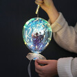 Lisa Angel Battery Powered Personalised Iridescent LED Hanging Balloon Light