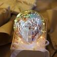 Lisa Angel Personalised Iridescent LED Hanging Balloon Light
