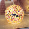 Lisa Angel Personalised Small LED Rainbow Glitter Light Globe