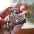 Personalised Meaningful Leather Envelope Keyring with Hidden Photo Charm