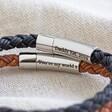Lisa Angel Men's Personalised Rustic Braided Leather Bracelet
