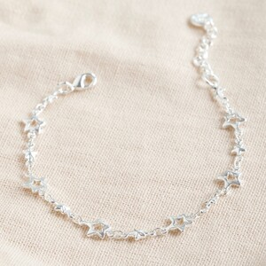 Star Chain Bracelet in Silver
