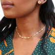 Starry Choker Necklace in Gold on Model