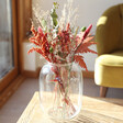 Lisa Angel Red and Green Christmas Dried Flower Bouquet