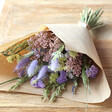 Women's Pastel Dried Flower Bouquet with Quartz Crystal