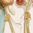 Lisa Angel Hand-Stamped Personalised Set of Dried Flower Place Settings