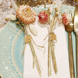 Lisa Angel Personalised Pastel Set of Dried Flower Place Settings