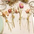 Lisa Angel Ladies' Personalised Set of Dried Flower Place Settings