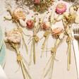Lisa Angel Personalised Set of Dried Flower Place Settings