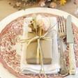 Lisa Angel Gift Wrap and Set of Dried Flower Place Settings