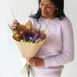 Rainbow Brights Dried Flower Bouquet with Model
