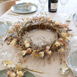 Lisa Angel Natural Dried Flower Wreath Centrepiece with Removable Posies