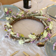 Lisa Angel Pastel Dried Flower Wreath Centrepiece with Removable Posies