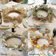 Lisa Angel Colourful Dried Flower Wreath Centrepiece with Removable Posies