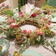 Lisa Angel Eucalyptus Dried Flower Wreath Centrepiece with Removable Posies